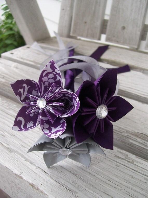 Paper Flower Girl Wand Origami Flowers Kusudama