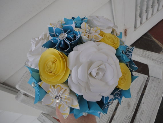 Wedding Paper Flower Package - Cathi - Origami Kusudama Paper Roses