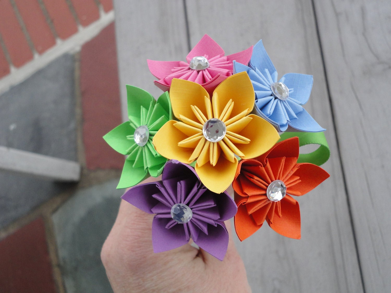 Delighted origami flower bouquet contemporary wedding and flowers how to make origami flower bouquet izmirmasajfo Gallery
