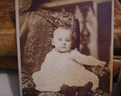 Antique Black & White Photo baby picture  Lancaster PA. Great  scrapbooking item