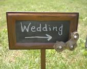 Rusty Chalkboard Wedding Signs Garden S