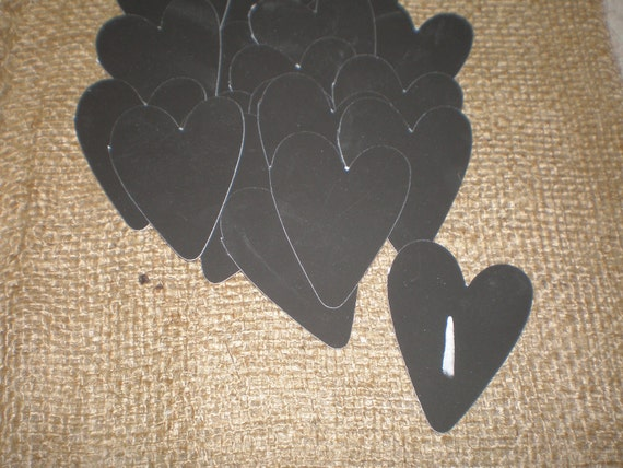 15 Chalkboard Labels Hearts cardstock DIY Wedding Baby Shower glass Mason jar labels