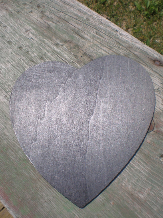 Chalkboard Large Heart reversible Sign
