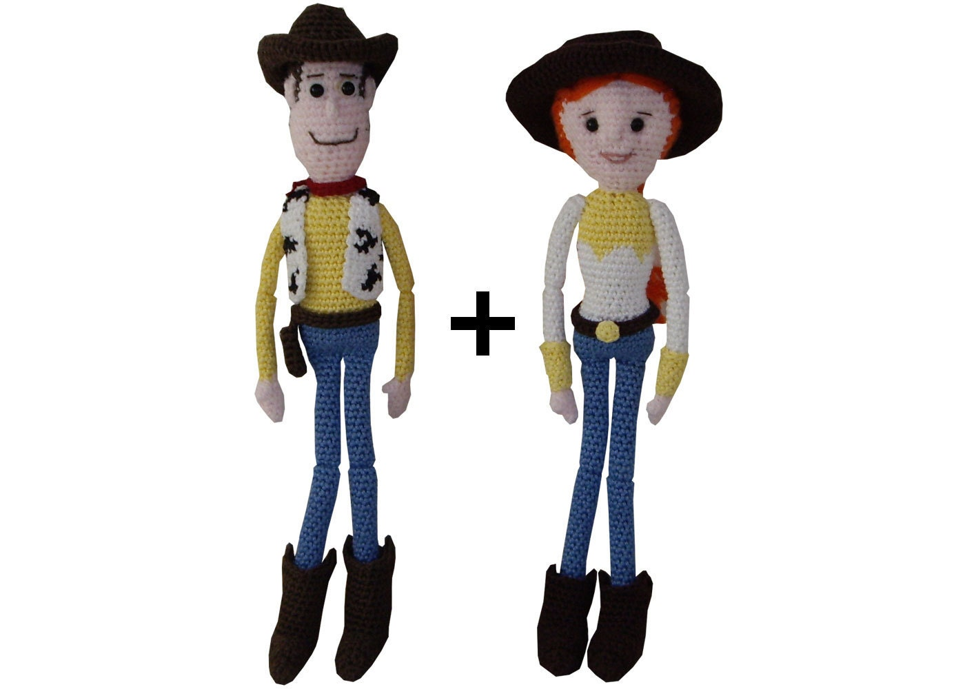 Toy Story Knitting Patterns Woody : Amigurumi Crochet Pattern: Jessie & Woody from Toy story