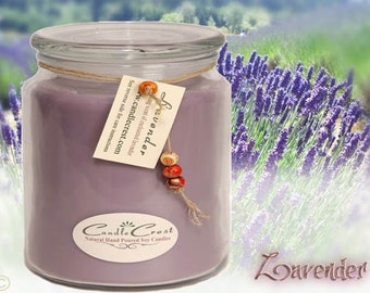 Lavender Soy Candles, Long Lasting Hand Poured Floral Candles, Lavender Scented Candles, Vegan Friendly Candles