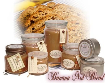Banana Nut Bread Soy Candle - Fall Candles - Bakery Fragrances