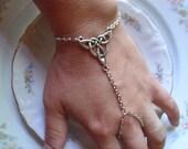 Slave Bracelet - Triquetra - Celtic Knot  -  Hand Bracelet, Trinity Knot Ring Finger Bracelet, Body Jewelry, Made in USA