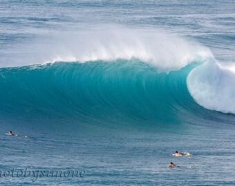 Surf's up Empty wave Honolua Bay Maui Hawaii turquoise aqua wave