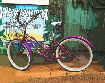 Hawaiian Purple beach bike hawaiian coffee beach cruiser java Maui