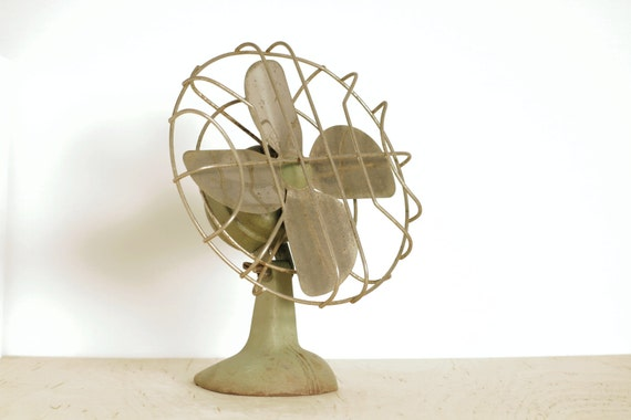 Small Vintage Metal Decorative Desk Fan