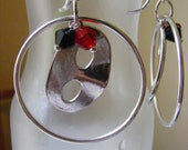 Phantom the the Opera hoop charm earrings