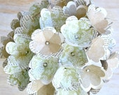 Natural -  Large Paper Flower Bridal Bouquet - Made to Order