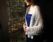 Wedding shawl. Beaded  Hand knit Wedding Accessory REDUCED TO MOVE
