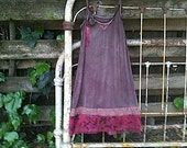 CUSTOM slip romance on the prairie dress lilac cocoa Plum Wines Airy Floaty Slip Dress Ranch Wedding Custom