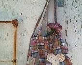winter gypsy boho earthy gift plaid hobo bag eco skirt vintage lace ipad gym yoga pilates bag tote