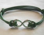 Green Infinity Bracelet