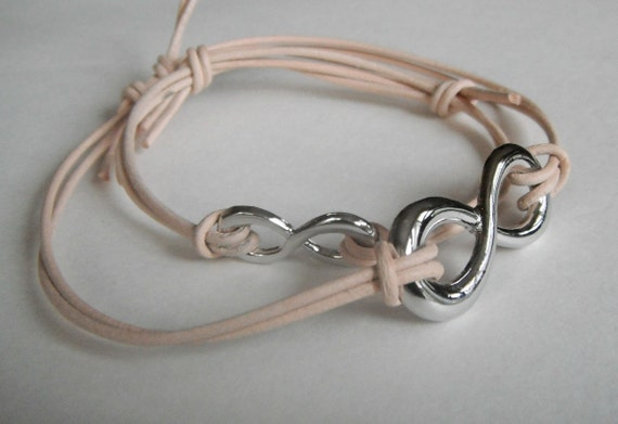 Infinity Bracelet Beige for Him and Her