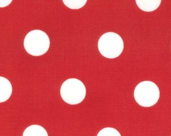 SALE - Moda Dottie Dot - Christmas Red