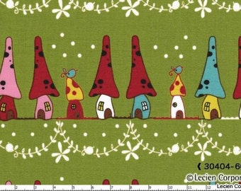 SALE - Woodland by Natalie Lymer for Lecien - Neighbors in Green - 1/2 Yard