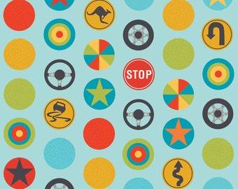SALE - Peak Hour by Kellie Wulfsohn for Riley Blake Designs - Stop in Blue