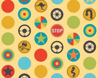 SALE -Peak Hour by Kellie Wulfsohn for Riley Blake Designs - Stop in Yellow