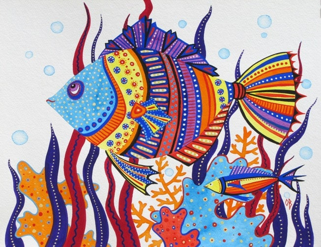 Kids Painted Fish Items similar to Kids ...