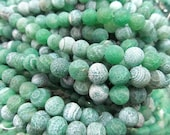bulk round ball cracked crab ornager pink red blue green assortment  agate onyx gemtone 10mm--5strands 228pcs