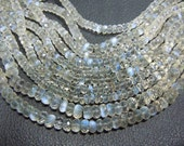 Rainbow Moonstone Rondelle Faceted Beads Gemstone African   AAA Quality 7'' size -6 to 8MM Wholesale Price