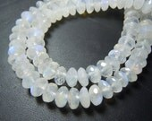 8inches top grade rainbow moonstone faceted rpoundele beads  stunning quality size 8mm approx wholesale price