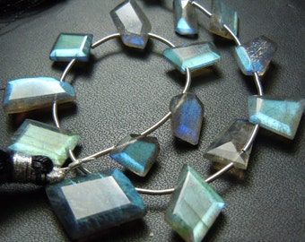 Labradorite Fancy Cut Beads  Gemstone 8 inches-top grade quality blueFire AAA  quality wholesale price