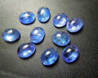 Tanzanite Gemstone Cabochon Wholesale Lot  Size 7x9MM  10Pc Top Quality Natural Blue  Wholesale