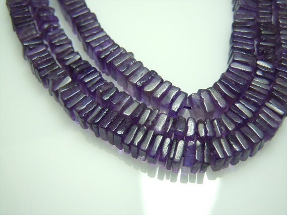 Amethyst Cube Heishi Beads Gemstone  AAA Quality 14'  size 5mm Approx Wholesale Price
