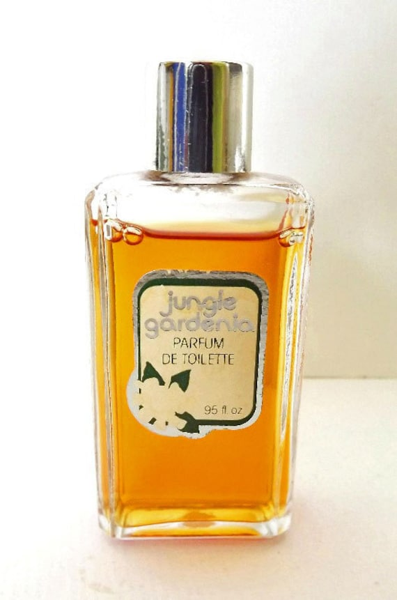 vintage perfume and bottle rare tuvache jungle gardenia parfum. Black Bedroom Furniture Sets. Home Design Ideas