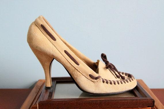 Size Vintage High Heels Moccasin