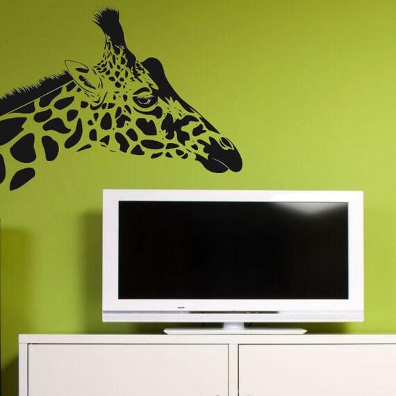 Giraffe Head Wall Decal Vinyl Decor