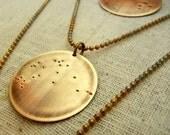 Capricorn Necklace - Zodiac Constellation Necklace - CAPRICORN by E. Ria Designs
