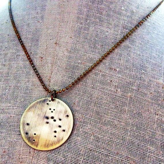 sagittarius necklace constellation jewelry november