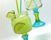 Ready to Ship Set of Two Mason Jar Margarita Glasses