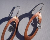 "ARTisan Made ""Upcycled"" Earrings - PMC - Copper - Sterling Silver - OOAK"