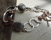 "ARTisan Made ""Inner Strength"" Bracelet - Upcycled - Sterling Silver - Recycled PMC - Copper - OOAK"