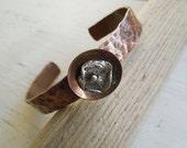 "ARTisan Made ""Balance"" Cuff - Reclaimed Copper & PMC - OOAK"