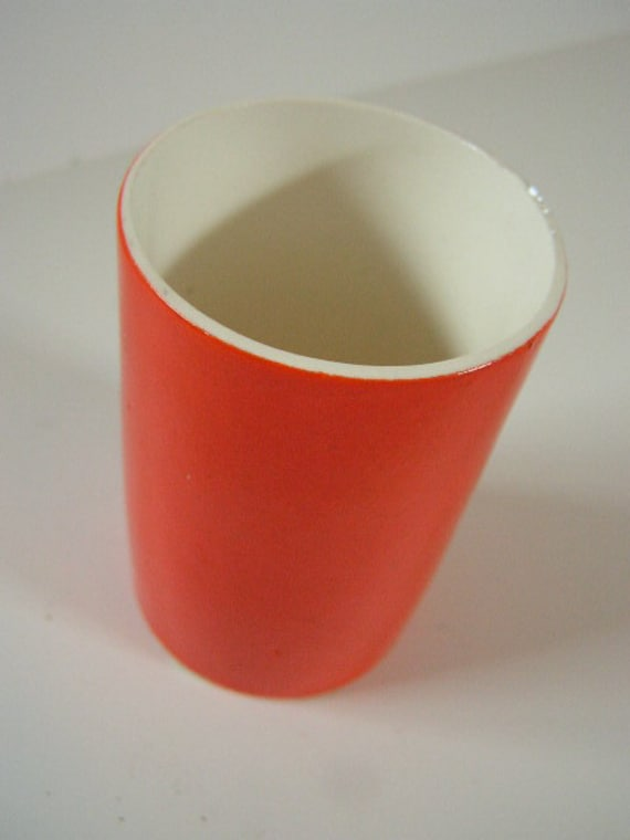 vintage holt howard japan orange cup
