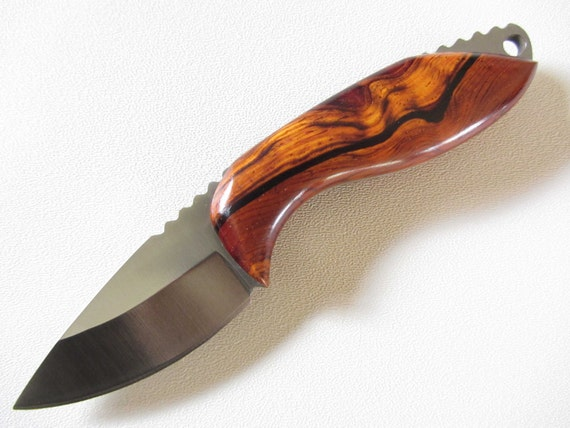 Custom Skinner Knife -  Stainless Steel Blade - Handmade Cocobolo Wood Handle