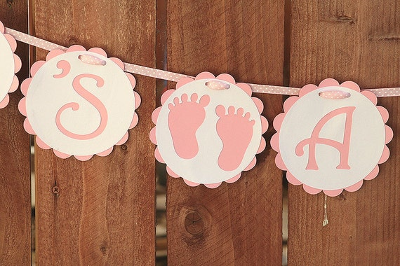 It's a Girl Pink and White Baby Shower Banner
