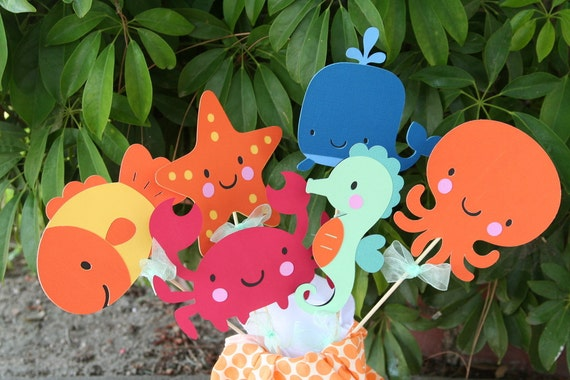 Under the Sea Party Center Piece or Table Topper CHOOSE THREE