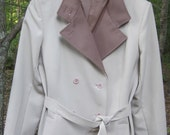 80s Forecaster belted double breasted Trench rain Coat M