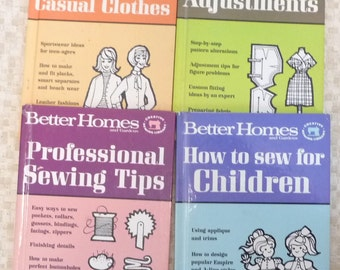 1966 vintage Better Homes & Gardens Sewing Dress Clothes fashion Pattern Books How 2 Sew for Book Lot Women Children