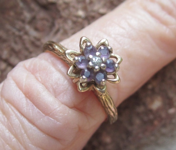Pretty Vintage 80 S 10k Gold Tulip Ring Size 6
