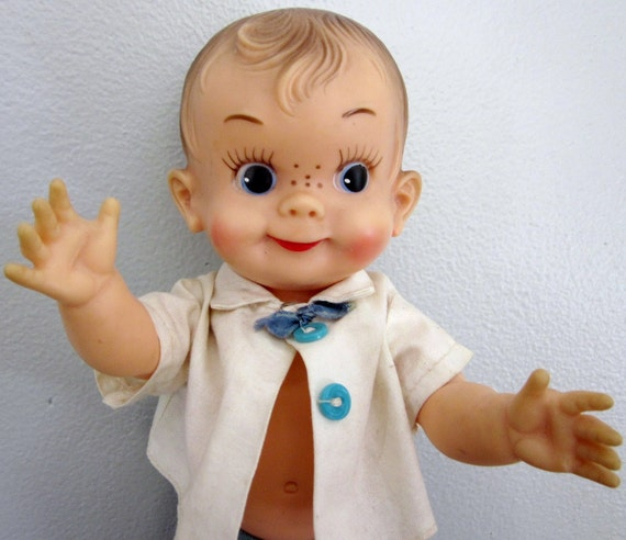 Vintage 1957 Effanbee Mickey Boy Doll Freckle Face