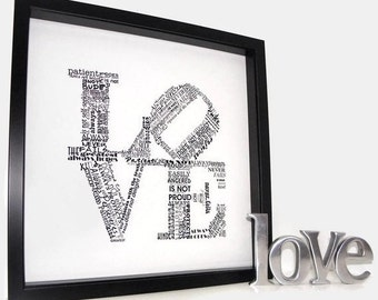 Love Never Fails Framed Print Holiday Gift Valentines Day Gift Valentines Day Gift Under 50